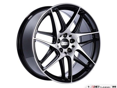"ES#3138105 - CX002BPKKT1 - 19"" CX-R - Set Of Four  - 19""x8.5"" ET35 5x112 - Gloss Black with Diamond Cut Face - BBS - Audi"