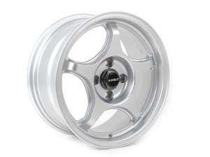 "ES#3137370 - e30ltw5sKT - 15"" LTW5 - Square Set Of Four - Silver - Lightweight street and track wheel setup with a classic E30 autox look - only 13lbs per wheel! -- 7"" Width - D-Force Wheels - BMW"