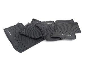 ES#3129824 - 958044801551E0 - All Season Rubber Floor Mats - Black - Set of four floor mats for left-hand drive vehicles - Genuine Porsche - Porsche