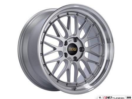 "ES#3138115 - LM155DSPKKT - 19"" LM - Set Of Four  - 19""x9.5"" ET32 5x112 - Diamond Silver Center with Diamond Cut Lip - BBS - Audi Volkswagen"