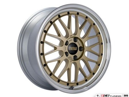 "ES#3138175 - LM249GPKKT - 19"" LM - Set Of Four  - 19""x8.5"" ET48 5x112 - Gold Center with Diamond Cut Lip - BBS - Audi Volkswagen"