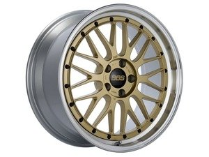 "ES#3138187 - LM250GPKKT - 19"" LM - Set Of Four  - 19""x9"" ET42 5x112 - Gold Center with Diamond Cut Lip - BBS - Audi Volkswagen"