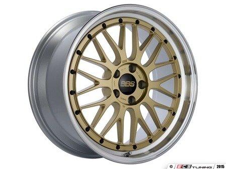 """ES#3138223 - LM250GPKKT1 - 19"""" LM - Set Of Four  - 19""""x9"""" ET42 5x112 - Gold Center with Diamond Cut Lip - BBS - Audi"""