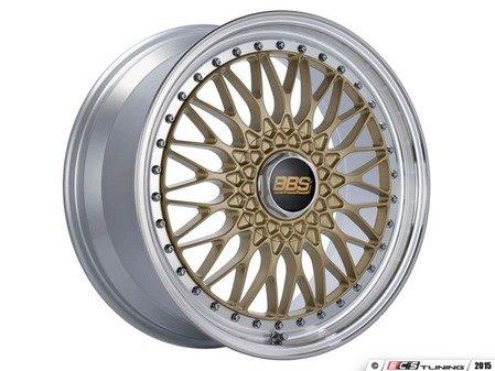 """ES#3138625 - RS539HGPKKT - 19"""" Super RS - Set Of Four  - 19""""x8.5"""" ET48 5x112 - Gold Center with Diamond Cut Lip - BBS - Audi Volkswagen"""