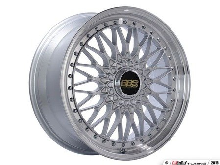 "ES#3138631 - RS539HSPKKT - 19"" Super RS - Set Of Four  - 19""x8.5"" ET48 5x112 - Silver Center with Diamond Cut Lip - BBS - Audi Volkswagen"