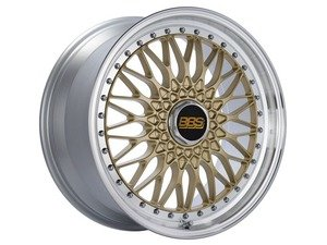 "ES#3138633 - RS540HGPKKT - 19"" Super RS - Set Of Four  - 19""x9"" ET42 5x112 - Gold Center with Diamond Cut Lip - BBS - Audi Volkswagen"