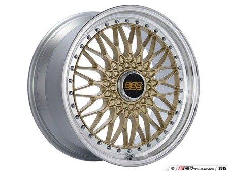 """ES#3138633 - RS540HGPKKT - 19"""" Super RS - Set Of Four  - 19""""x9"""" ET42 5x112 - Gold Center with Diamond Cut Lip - BBS - Audi Volkswagen"""