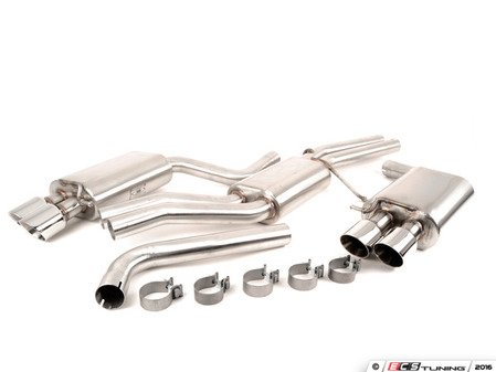 """ES#523293 - FPIM-0570 - Cat-Back Exhaust System - Stealth - 2.5"""" stainless steel with quad 3.5"""" double wall tips - Billy Boat Performance - Audi"""