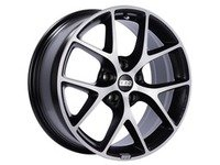 "ES#3138730 - SR004VGPKKT - 17"" SR - Set Of Four  - 17""x7.5"" ET35 5x112 - Satin Black with Diamond Cut Face - BBS - Audi Volkswagen"