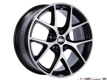 "ES#3138734 - SR005VGPKKT - 17"" SR - Set Of Four  - 17""x7.5"" ET45 5x112 - Satin Black with Diamond Cut Face - BBS - Audi Volkswagen"