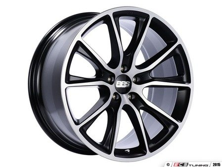 "ES#3138804 - SV014BPKKT - 19"" SV - Set Of Four  - 19""x8.5"" ET38 5x112 - Satin Black with Diamond Cut Face - BBS - Audi Volkswagen"