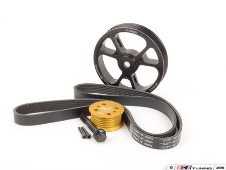 ES#3098120 - 53-3M7700-1 - M7 Gen 1 Power Up Kit - Supercharger Overdrive Pulley Kit  - 16% Reduction Pulley, 4% Lightweight Overdrive Pulley, and Belt - M7 Speed - MINI