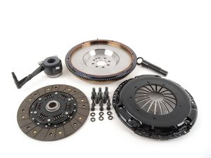 ES#3021853 - BFI20T240ST2 - BFI Stage 2 Clutch Kit - Forged Steel Flywheel (18.85lbs) - Includes a lightweight 4140 forged steel flywheel, performance pressure plate and full faced steel back clutch disk. Rated for 400wtq. - Black Forest Industries - Volkswagen