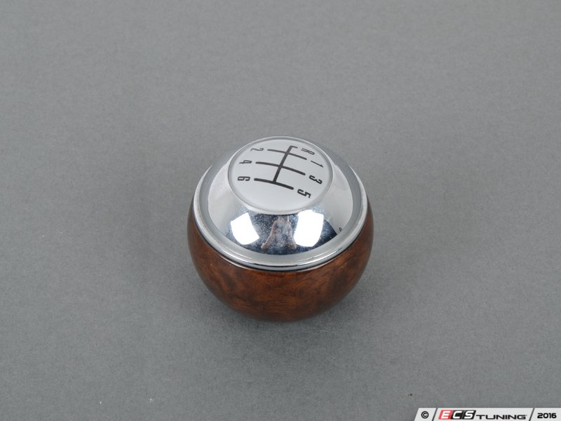 genuine mini  mini gear shift knob  speed wood chrome