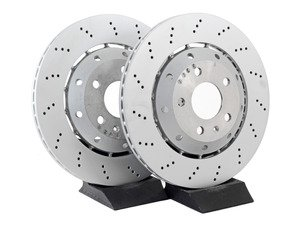 ES#3132730 - 8e615601ab4ktKT - Rear Cross Drilled Brake Rotors - Pair (324x22) - Restore the stopping power in your vehicle. - Brembo - Audi