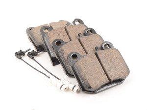 ES#2765615 - 1634201120 - Rear Euro Ceramic Brake Pad Set - Does not include brake pad wear sensors - Akebono - Mercedes Benz