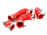 ES#3088890 - 010137ECS01-02KT - High Flow Charge Pipe Coupler Kit - Includes All 4 Intercooler Pipe Couplers - Red - Improve your charge airflow path with our Silicone Intercooler Pipe Couplers - ECS - Audi Volkswagen