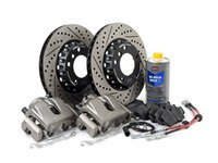 ES#3137443 - 341136466 -  OE Front Big Brake Kit (300x22) - Budget big brakes featuring ECS 2-piece rotors and Hawk HPS street performance pads! Fits under 16
