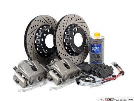 "ES#3137443 - 341136466 -  OE Front Big Brake Kit (300x22) - Budget big brakes featuring ECS 2-piece rotors and Hawk HPS street performance pads! Fits under 16"" wheels! - Assembled By ECS - BMW"