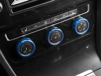 ES#3098277 - 008705ECS01-04 - Climate Control Ring Kit - KNOBBED - Blue Anodized - Set of three billet aluminum trim rings for your climate control dials - ECS - Volkswagen
