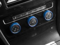 ES#3098290 - 008705ECS02-04 - Climate Control Ring Kit - SMOOTH - Blue Anodized - Set of three billet aluminum trim rings for your climate control dials - ECS - Volkswagen