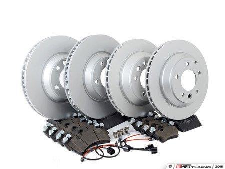 ES#2986552 - 7L6698302Kkt3 - Front & Rear Economy Brake Service Kit - Featuring OP Parts rotors and OP Parts Ceramic brake pads - Assembled By ECS - Audi