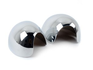 ES#2534849 - 971001 - Chrome Mirror Cover Caps - Pair - Attaches to the outside of the side mirror housings - URO - MINI