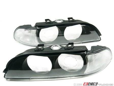 ES#10670 - FKBL041011 - Indicator Cover / Headlight Cover Set - Clear - Clear Euro look headlight cover for your BMW E39 - FK - BMW