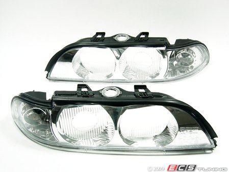 "ES#10667 - FKBL041015 - Indicator Cover / Headlight Cover Set - Crystal Chrome - ""Robot Eye"", crystal clear Euro look headlight cover for your BMW E39 - FK -"