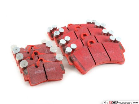 ES#2986593 - dp31473ckt - Front & Rear RedStuff Performance Brake Pad Kit - High performance street pad featuring Kevlar technology, includes front and rear pads - EBC - Audi Volkswagen