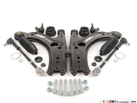 ES#259954 - 1J0498012 - Suspension Refresh Kit - Stage 3 - The most complete overhaul kit for your front suspension with pre-installed polyurethane control arm bushings for a crisp, engaging driving experience! Featuring ECS Heavy Duty Upper Strut Mounts! - Assembled By ECS - Volkswagen