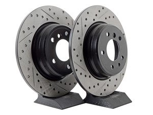 ES#3033115 - 34211157953CDS - Cross-Drilled & Slotted Brake Rotors - Rear  - This design removes performance robbing outgas and material dust caused by braking - StopTech - BMW