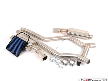"""ES#1832870 - 49-36301 - Cat Back Exhaust System - 2.75"""" piping, featuring a full stainless steel construction and 3.5"""" polished tips - AFE - BMW"""