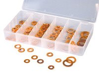 ES#2932391 - ATD359 - 110 Pc. Copper Washer Assortment - Always have extra copper washers - ATD Tools - Audi BMW Volkswagen Mercedes Benz MINI Porsche
