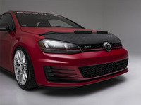 ES#3135554 - MK7VWGLFNDIABL - OE Style Hood Bra - Diamond Black - Add stylish front end protection and make your VW stand out - AutoBrahn - Volkswagen