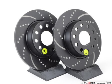 ES#2621586 - GD1772 -  Rear Slotted & Dimpled Brake Rotors - Pair (272x10) - Upgrade to a slotted / dimpled rotor for improved braking - OE# 1K0615601AA - EBC - Audi Volkswagen