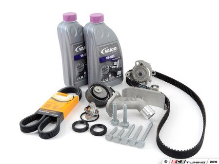 ES#3098289 - 06B198479KKT - Timing Belt Kit - Ultimate Plus - Our most complete timing belt kit with coolant. Featuring ECS Heavy Duty Cast Aluminum Thermostat Housing! - Assembled By ECS - Audi Volkswagen