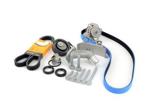 ES#3098283 - T306RBKT - Timing Belt Kit - Ultimate - A kit which include all the necessary timing components and seals. Featuring ECS Heavy Duty Cast Aluminum Thermostat Housing! - Assembled By ECS - Volkswagen