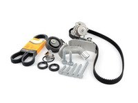 ES#3098275 - 06B198479KT1 - Timing Belt Kit - Ultimate  - Complete kit to service your timing belt, water pump, and thermostat. Featuring ECS Heavy Duty Cast Aluminum Thermostat Housing! - Assembled By ECS - Audi Volkswagen