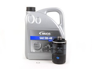 ES#3139017 - 06j115403qecoKT -  Economy Oil Service Kit - Only the essentials to perform an oil service. Includes German Made Vaico oil that meets VW 502.00 & 505.00 standards - Assembled By ECS - Audi Volkswagen
