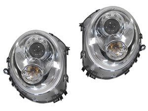 ES#3192998 - HMINI07HL-OEC - Projector Chrome Headlights - Pair - Chrome housing halogen projector headlight set in OEM style! Motorized leveling! - Helix - MINI