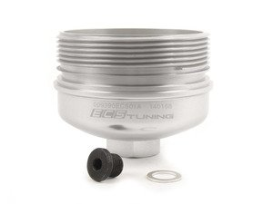 ES#3089027 - 009390ECS01-02 - Billet Aluminum Oil Filter Housing - Polished/Clear Anodized - Upgrade to a more durable and attractive, billet oil filter housing - ECS - Volkswagen