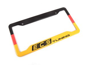 ES#3142192 - K1PF22 - ECS x Klii License Plate Frame - German Flag - North American stainless steel license plate frame wrapped in the colors of the German flag and your favorite tuning company's logo - ECS x Klii - Audi BMW Volkswagen Mercedes Benz MINI Porsche