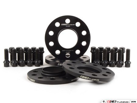 """ES#3138548 - 003462ECS01KT -  Wheel Spacer Flush Fit Kit - Black Bolts - Aggressive - Includes spacers & Black bolts to obtain a flush look on your OE 19"""" 'Peeler' style wheels - ECS - Audi"""