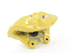 ES#2590067 - 34206855481 - Yellow BMW M Performance Rear Caliper - Left - Stop fast and look great doing it - Genuine BMW M Performance - BMW