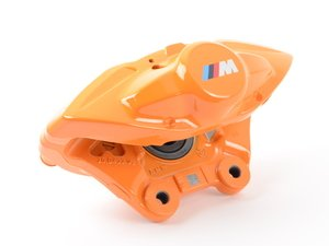 ES#2590069 - 34206855485 - Orange BMW M Performance Rear Caliper - Left - Stop fast and look great doing it - Genuine BMW M Performance - BMW