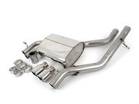 """ES#2827619 - SSXAU504 - Cat-Back Exhaust System - Non-Resonated - 2.5"""" stainless steel with twin 76.2mm polished tips - Milltek Sport - Audi"""