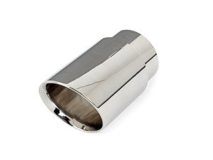 "ES#3508501 - EX-91-72WPL - 3.5"" Weld On Exhaust Tip - Polished - Stainless Steel exhaust tip featuring weld on attachment. 3"" Inlet / 3.5"" Double Wall, Slant Cut Outlet - 42 Draft Designs - Audi BMW Volkswagen"