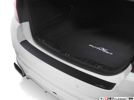 ES#3131975 - 5112661120 - Rear Bumper Protection Foil - Black - Black stick on protective decal - AC Schnitzer - MINI