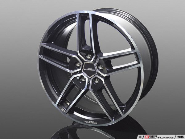 "ES#3132758 - 3611903008 - Type VIII BiColor Black Wheel 19"" ( 5x120 ) - Priced Each - 19""x8.5"" 5x120 ET43 - AC Schnitzer - BMW MINI"